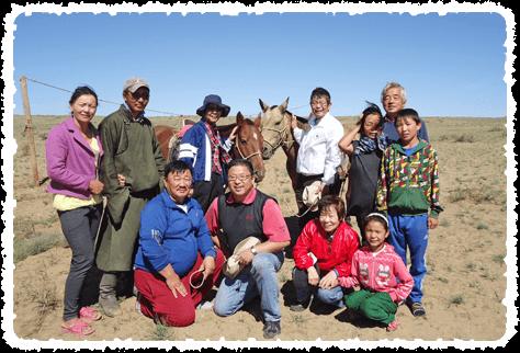 モンゴルスタディツアー参加者とサイハンオボー村の皆さんです